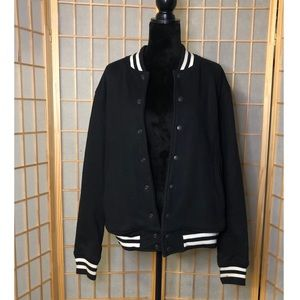 Black American Apparel Varsity Jacket